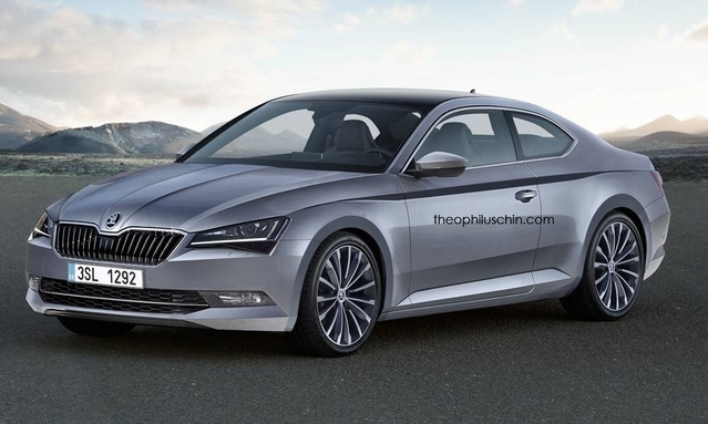 Design : un graphiste imagine un grand coupé Skoda