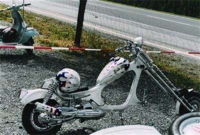 Photo du jour : Lambretta chopper