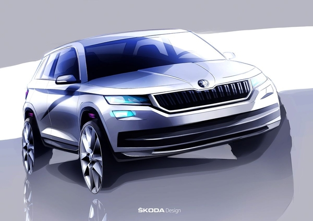 Skoda donne un avant-goût de son SUV, le Kodiaq