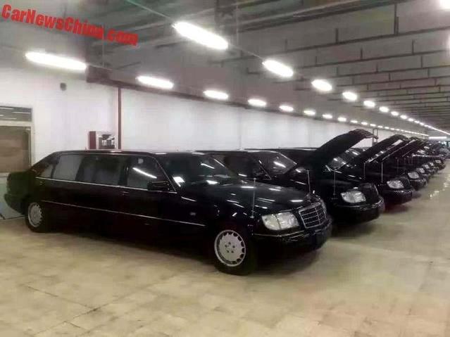 La municipalité de Shanghai a vendu ses 8 limousines Mercedes rebadgées