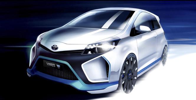 Toutes les nouveautés du salon de Francfort 2013 - Toyota Concept Yaris Hybrid- R : dévergondée