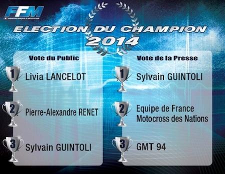 FFM: Sylvain Guintoli élu pilote Moto Français de l'année 2014