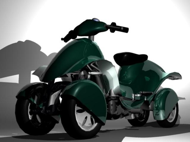 Prototype : Une moto à quatre roues sur nos routes