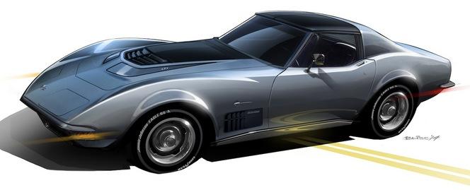 SEMA Show 2014 : Jimmie Johnson dévoile sa Corvette 71 sauce Restomod