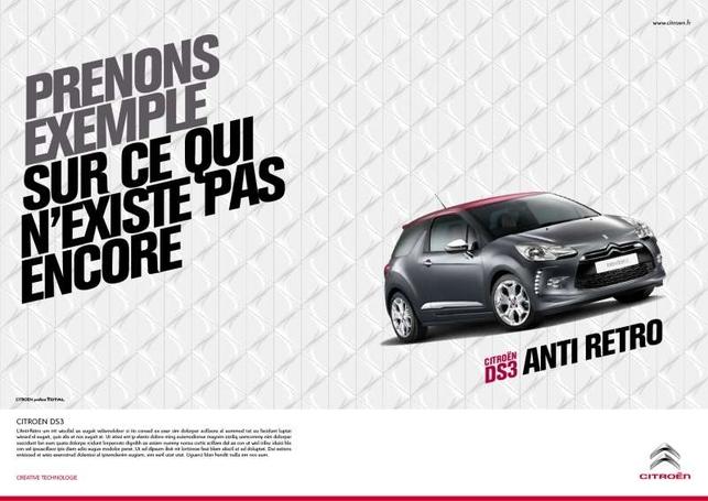 Campagne DS3 : Citroën casse des rétros pour vendre du néo-rétro !
