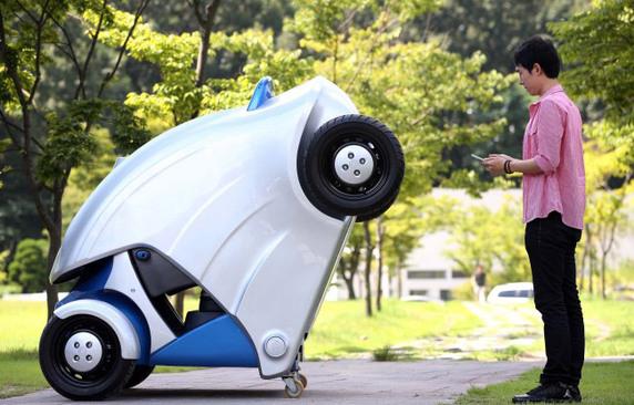 Une voiture électrique pliable!