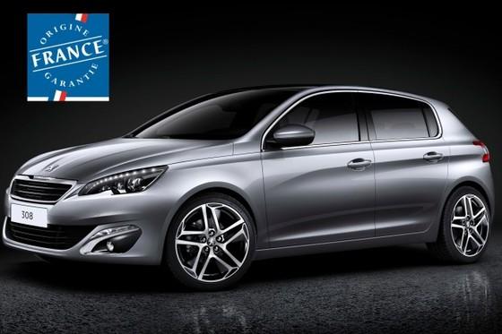 La nouvelle Peugeot 308 reçoit le label Origine France Garantie
