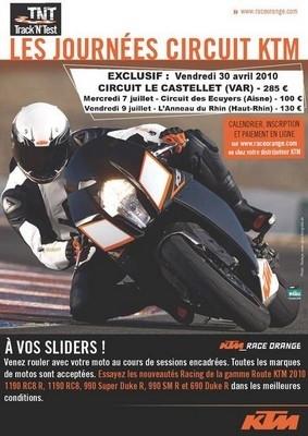 Track'N'Test 2010 : KTM remet le couvert !