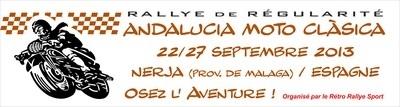 Un rallye de régularité de 1200 kms en Espagne pour les anciennes fin septembre 2013.