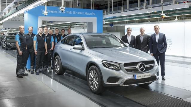 Mercedes : les premiers GLC Coupé sortent des chaînes