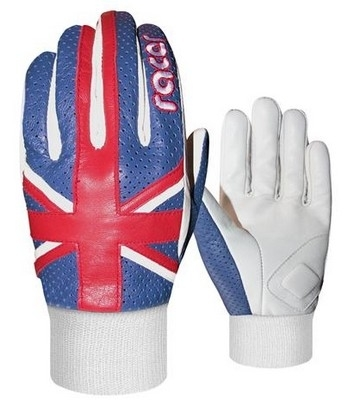 Racer « Save the Queen » avec le gant été Union Jack…