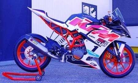Beringer et les KTM (RC et Duke)