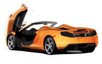 Surprise : tout sur le toit de la future McLaren MP4-12C Spider