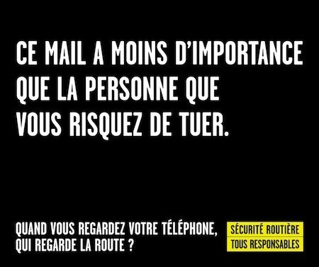 Sécurité Routière: nouvelle campagne d'affichage