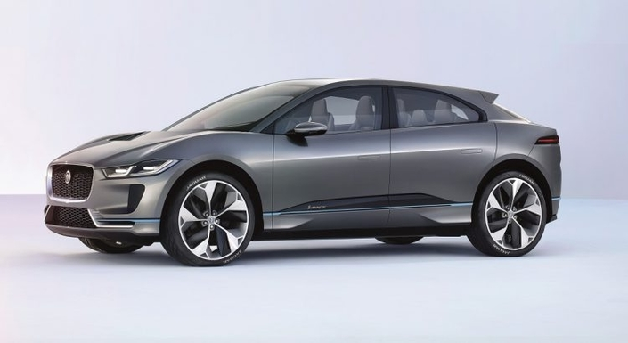 Le nouveau SUV électrique Jaguar I-Pace.