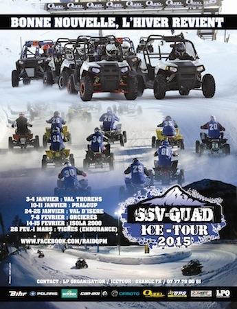 Ice Tour 2015: les SSV et Quads seront sur la glace