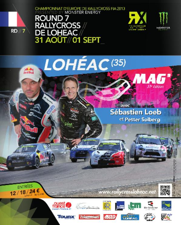 Rallycross Lohéac - Loeb battu en 1/2 finale, Solberg termine second...