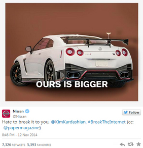 Nissan USA vs Kim Kardashian : qui a le plus gros ?