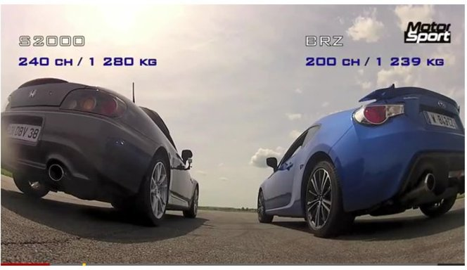 [vidéo] Subaru BRZ vs Honda S2000, une vieille tape une jeune