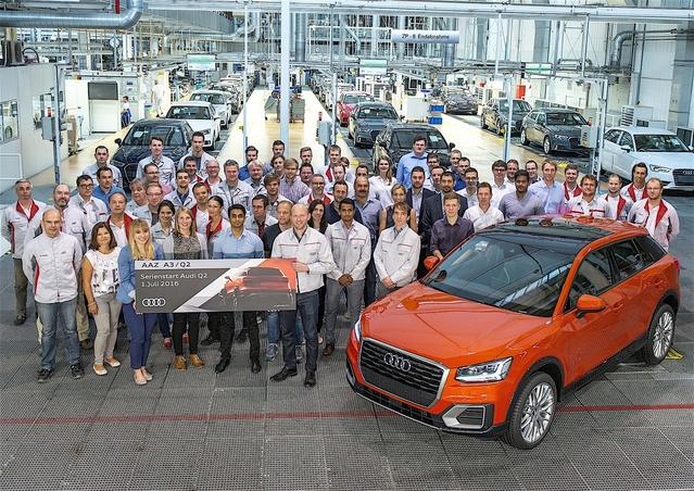 Audi Q2 : les premiers exemplaires sortent des chaînes