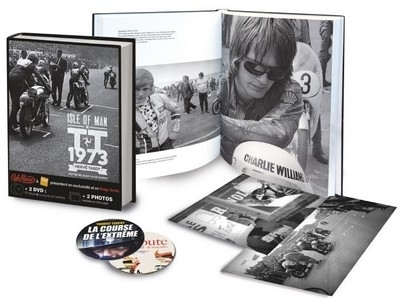 Idée cadeau: coffret TT 1973: 1 livre, 2 tirages photo et 2 DVD.