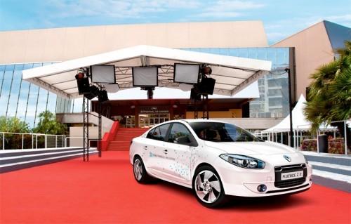 La Renault Fluence ZE star du Festival de Cannes