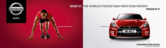 Comment rendre Usain Bolt plus rapide ? Avec une Nissan GT-R !