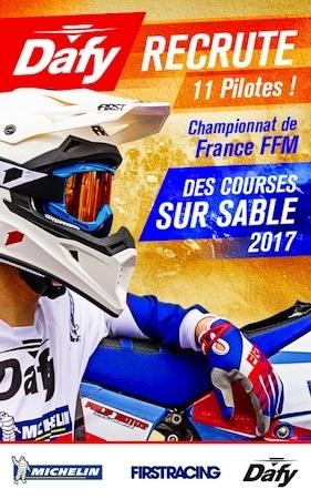 Championnat de France des Sables 2017: Dafy recrute 11 pilotes