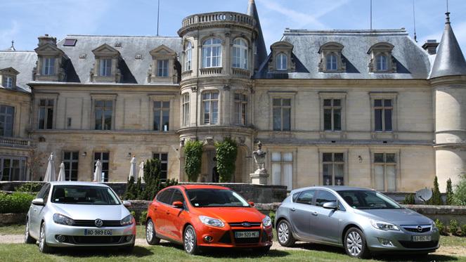 Ford Focus - Opel Astra - VW Golf : la légion étrangère