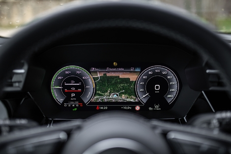 Audi's virtual Cockpit is very easy to use and readable.