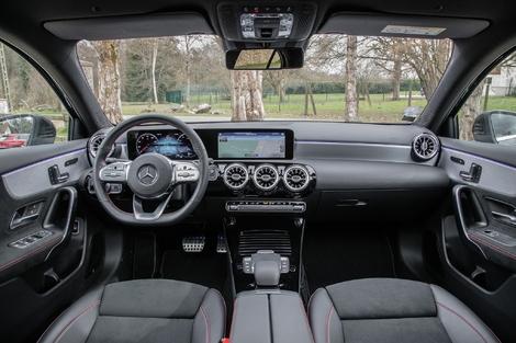 Still relevant, the dashboard of the A-Class still has a small effect.  Ergonomics and quality can be improved at this price.