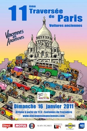 11ème traversée de Paris le 16 janvier 2011 : 450 véhicules anciens à l'assaut de la capitale.