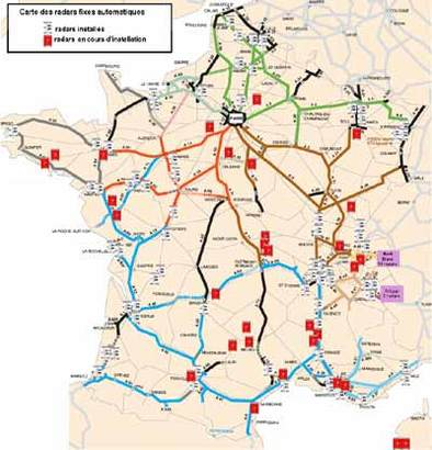 carte radars en france
