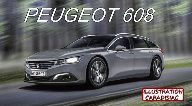 Peugeot 608, futur haut de gamme du Lion