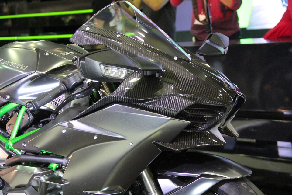 En direct d'Intermot : Kawasaki H2 Carbon