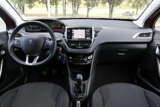 Tableau de bord de la Peugeot 208