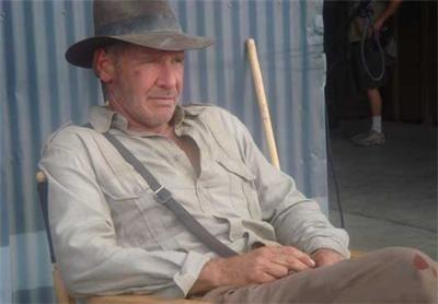 "Indiana Jones 4 : le retour d'Harrison ""Indiana"" Ford en moto"