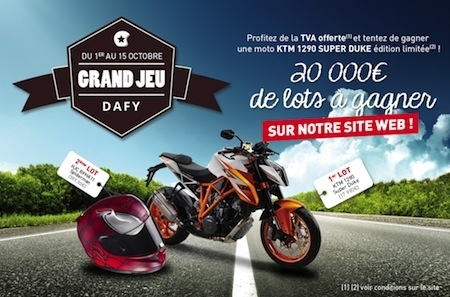 Jeu: Dafy vous offre votre KTM 1290 Duke!