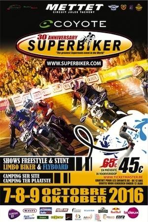 30ème Superbiker de Mettet: du 7 au 9 octobre 2016
