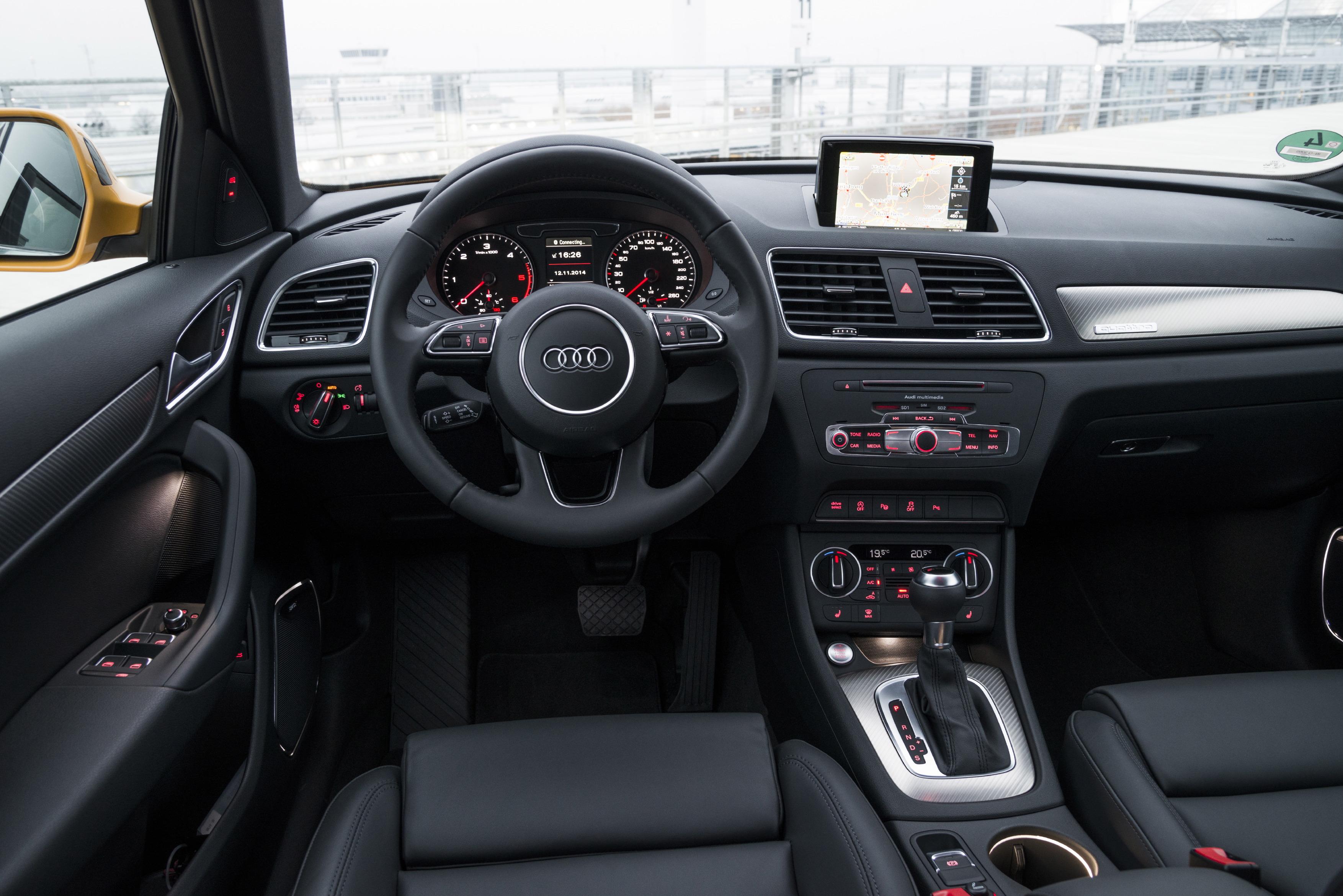 Essai audi q3 restyl le fond plut t que la forme for Audi q3 photos interieur