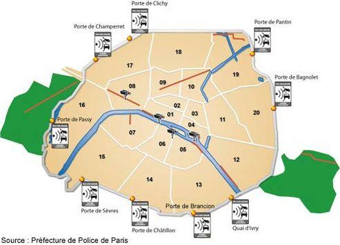 carte nouveaux radars peripherique paris