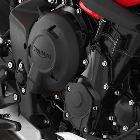 Triumph: carter de protection pour Daytona et Street Triple