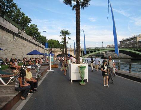 Reportage à Paris-Plages : les moyens de transport alternatifs se la coulent douce