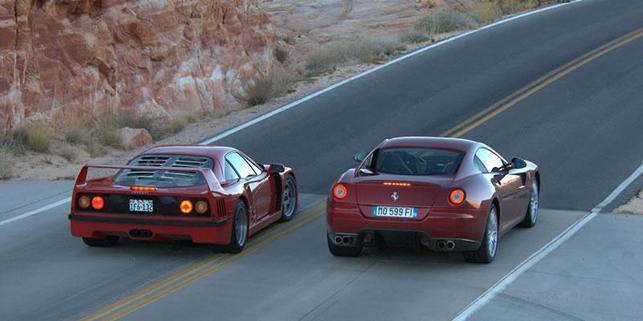 Ferrari 599 GTB : tournage de sa publicité en plein désert