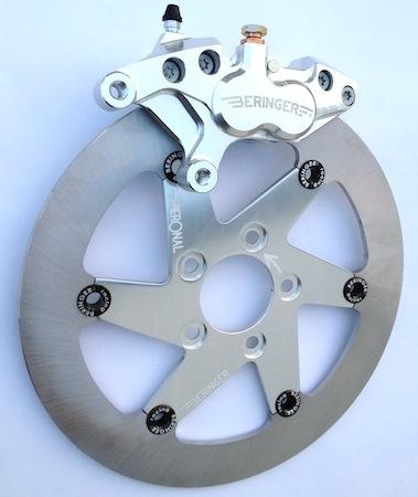 Beringer: kit étrier 4 pistons pour Harley et Triumph