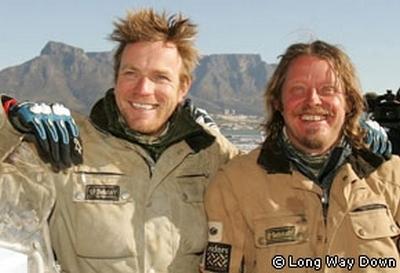 Ewan McGregor et Charley Boorman au bout de leurs 24 000 kilomètres en moto