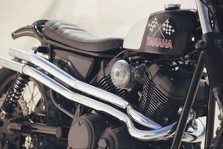Yamaha Yard Built SCR950: Chequered Scrambler by Brat Style