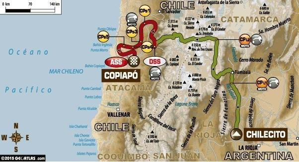 "Dakar 2015 - Etape 3 : un coup à la ""Walkner"" Dakar Biker"