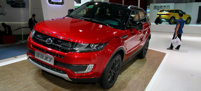 Land Rover va porter plainte contre la copie chinoise de son Evoque
