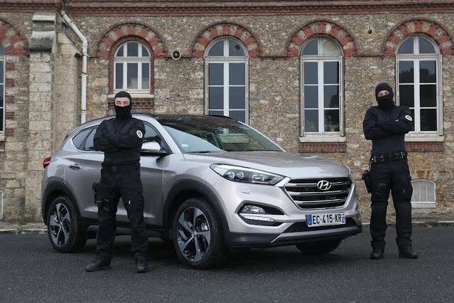 Le RAID, unité d'élite française, roule en Hyundai